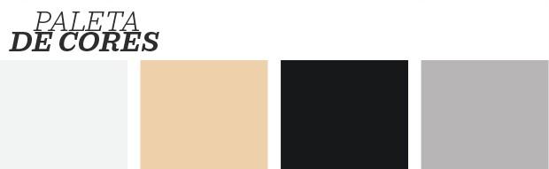 Décor do dia: branco, preto e madeira na sala de estar (Foto: Reprodução)