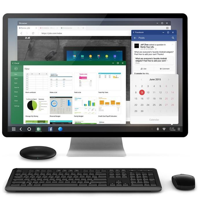 Gadget usa Android customizado com recursos semelhantes ao Windows (Foto: Reprodução/Kickstarter)