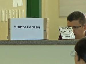 Greve dos médicos da rede pública de Campo Grande (Foto: Reprodução/TV Morena)