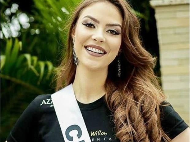 Miss Cuiabá, Nicole Abdalla, 19 anos, 1,73 m de altura e 55 kg (Foto: Divulgação)