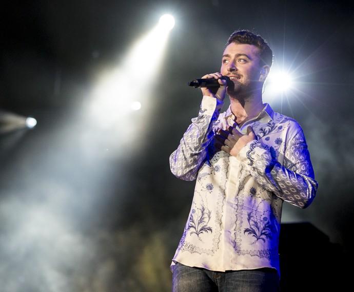 Sam Smith emocionou o público com suas baladas românticas (Foto: Felipe Monteiro/Gshow)
