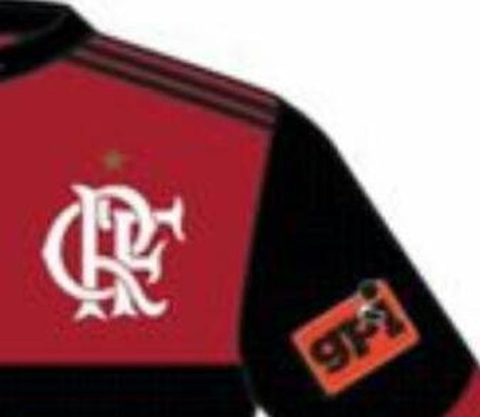 Veja onde será aplicada a marca do GPI na camisa do Flamengo (Foto: Reprodução)