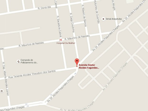 Veja como chegar ao local do Estimacão 2016, em Araçatuba (Foto: Google Maps)