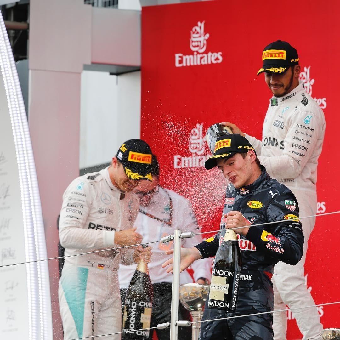 O pódio do GP do Japão (Foto: Reprodução/Instagram)
