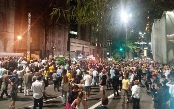 Manifestação do dia 16 de março na Avenida Paulista, em São Paulo (Foto: ÉPOCA)