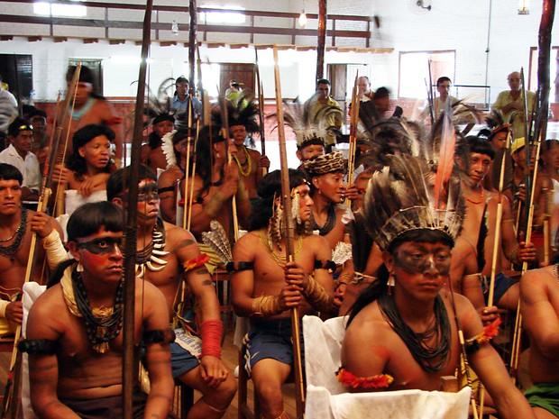 Homens representam a maioria dos índigenas mato-grossenses (Foto: Daniel Dino/ Secom-MT)