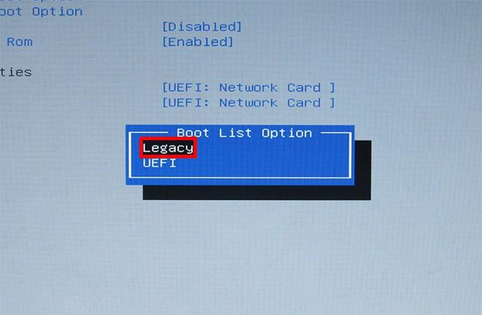 Ative o Legacy Boot (Foto: Reprodução/Paulo Alves)