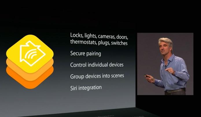 Os gadgets Apple poderão controlar funções domésticas, como abrir o portão da garagem (Foto: Reprodução/ Apple)