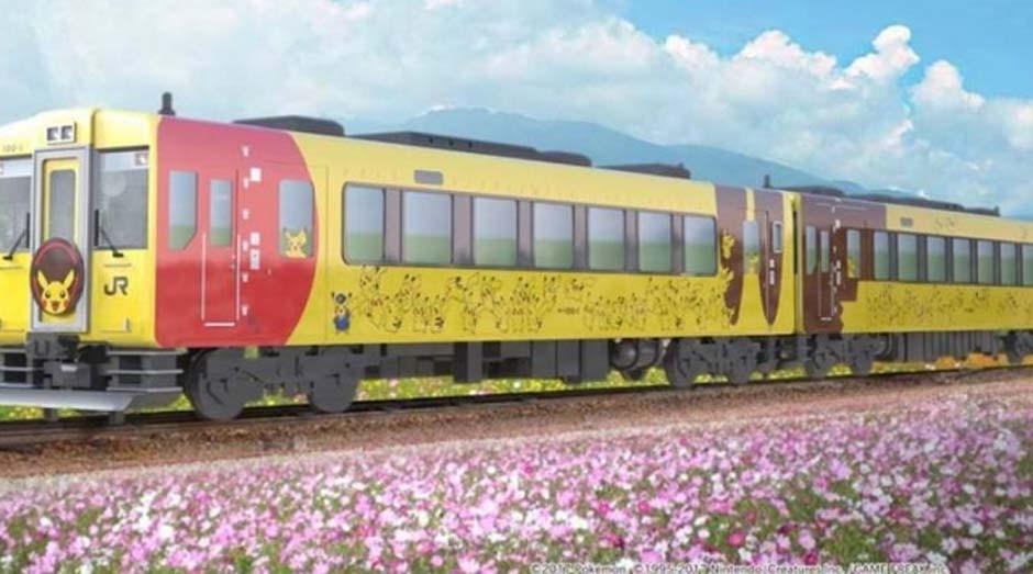 O trem do Pikachu faz parte da iniciativa Pokémon With You (Foto: Reprodução)