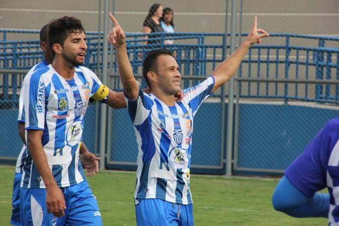 Neto fez dois gols contra o Nacional Borbense neste sábado (18) (Foto: Diego Toledano)