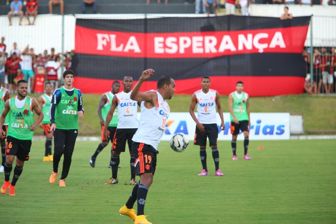 Alecsandro - atacante do Flamengo - treino em Natal (Foto: Alexandre Lago/GloboEsporte.com)