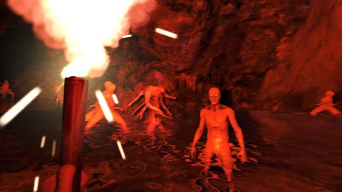 The Forest assusta no início, mas possui mecânicas bem semelhantes às de Minecraft (Foto: Reprodução/Steam)