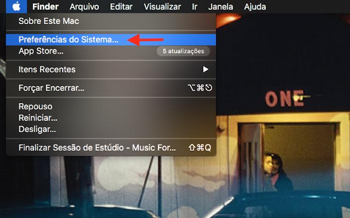 Acesso para as configurações do Mac OS Sierra (Foto: Reprodução/Marvin Costa)