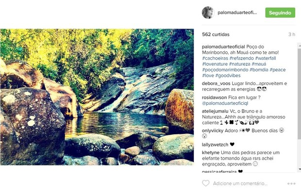 Foto postada por Paloma Duarte (Foto: Reprodução / Instagram)
