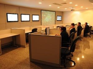 Central de monitoramento em Indaiatuba (Foto: Eliandro Figueira SCS/PMI)