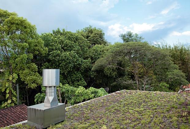 TETO VERDE A cobertura com vegetação, da Ecotelhado, mantém a temperatura sempre agradável nos ambientes internos. Com 8 cm de espessura, é composta de fôrma plástica para a retenção da água de chuva, caixa de terra e plantas de raiz pouco profunda (Foto: Edu Castello)