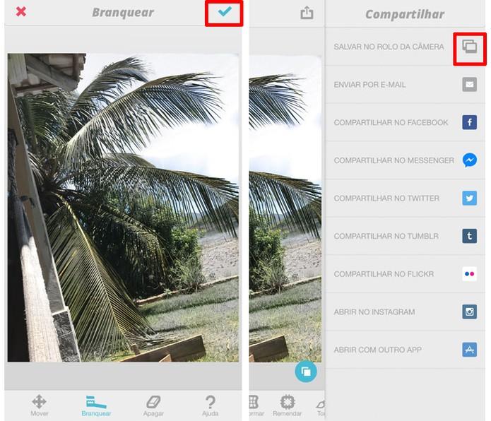 Após a edição no Facetune, exporte a foto para outro app antes de postá-la no Instagram (Foto: Carolina Ochsendorf/TechTudo )