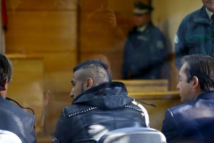 Vidal no tribunal (Foto: REUTERS/Ivan Alvarado)