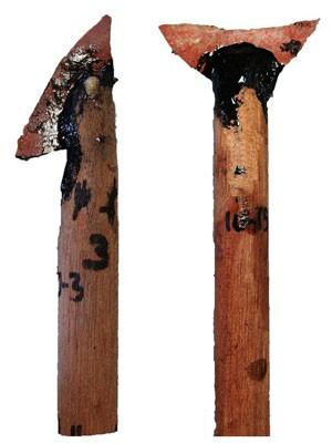 Lanças desenvolvidas com a 'tecnologia avançada' de 71 mil anos atrás (Foto: Benjamin Schoville/Divulgação)