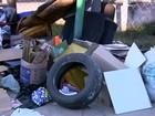 Descarte de lixo é flagrado na calçada de ecoponto em Bauru