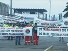 Estivadores do Porto de Santos, SP, fazem paralisação geral de 24 horas