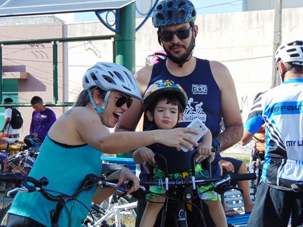 Eventos do ciclismo têm atraído famílias para a prática da modalidade (Foto: Kyberli Gois)