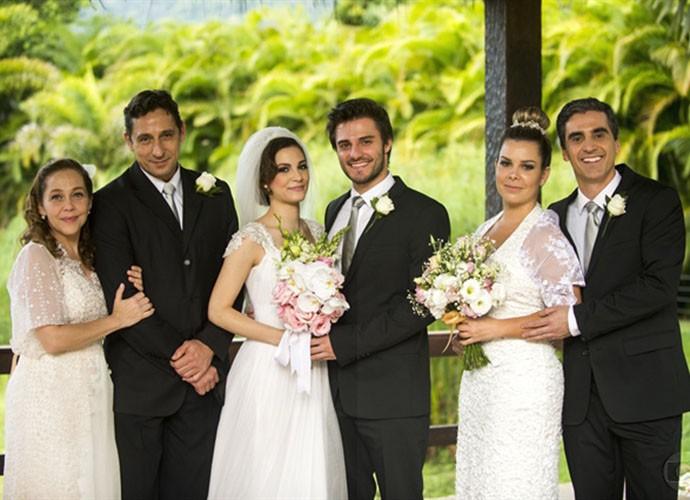 Temporada de 2013 de Malhação teve casamento triplo (Foto: Gshow/TV Globo)