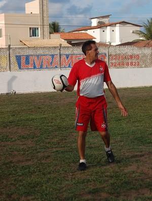 Denô Araújo, técnico do Auto Esporte (Foto: Lucas Barros / Globoesporte.com/pb)