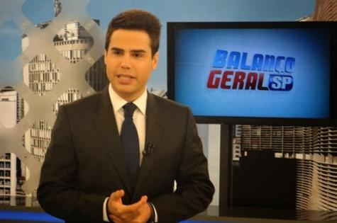 Luiz Bacci comanda o 'Balanço geral' (Foto: Reprodução)