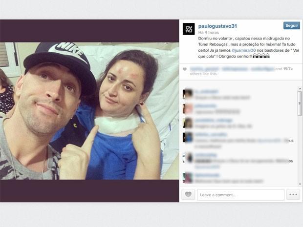 Segundo Paulo Gustavo, acidente foi no Túnel Rebouças (Foto: Reprodução / Instagram)