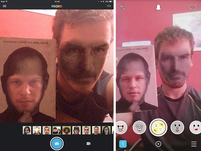 Snapchat e MSQRD tem filtro para trocar rosto do usuário (Foto: Reprodução/Elson de Souza)