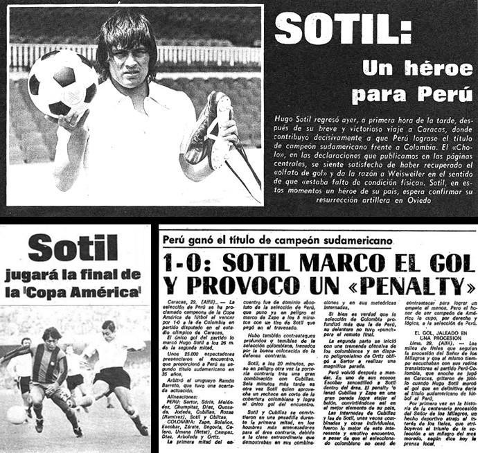 Hugo Sotil, herói do Peru - jornal reproducao (Foto: infoesporte)