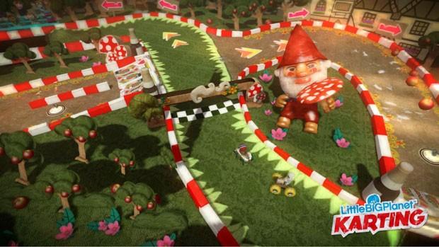 Jogador poderá criar pistas e compartilhar na internet em 'LittleBigPlanet Karting' (Foto: Divulgação)