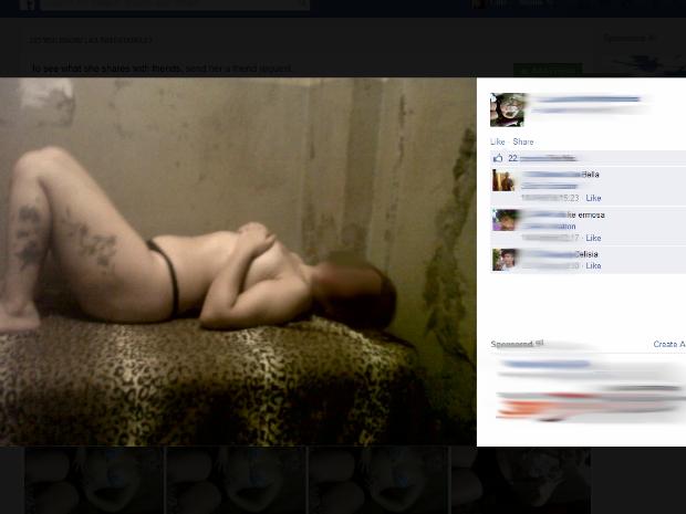 Presas fazem fotos sensuais dentro da cadeia e postam na internet (Foto: Reprodução / Facebook )