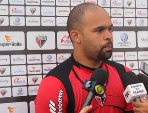 Márcio, goleiro do Atlético-GO (Foto: Fernando Vasconcelos / Globoesporte.com)