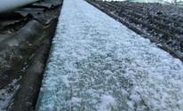 Cidades do interior do RS têm neve e geada nesta quarta-feira (Stéfano Cardoso/VC no G1)