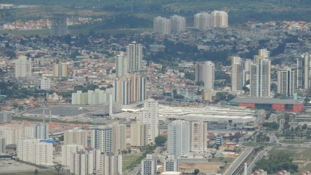 Cidade de Mogi das Cruzes panoramica (Foto: Thiago Fidelix)
