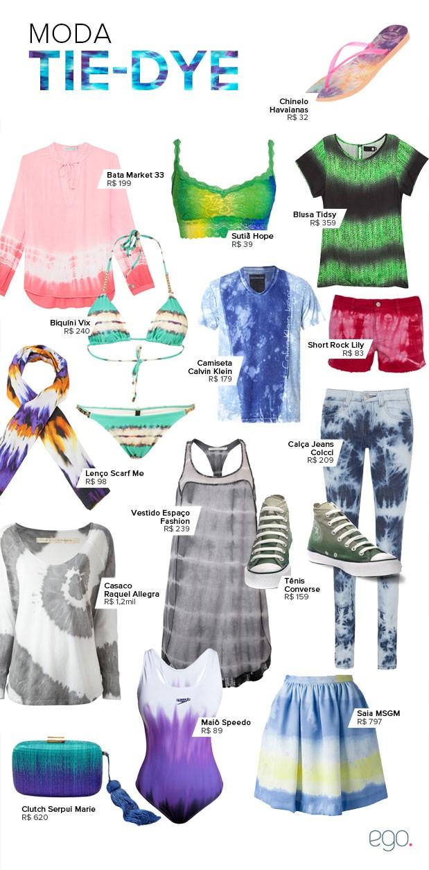 Moda Tie-dye (Foto: EGO)