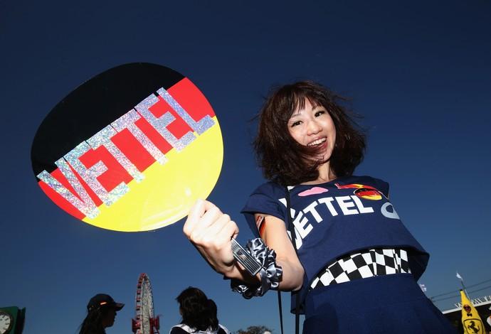 Um dos pilotos mais populares da torcida japonesa é o alemão Sebastian Vettel (Foto: Getty Images)