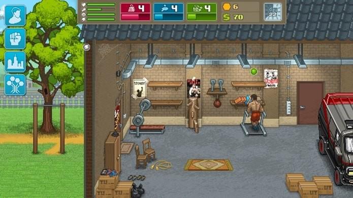 Muitas referências a filmes dos anos 80 em um divertido game para Android (Foto: Divulgação / tinyBuild)