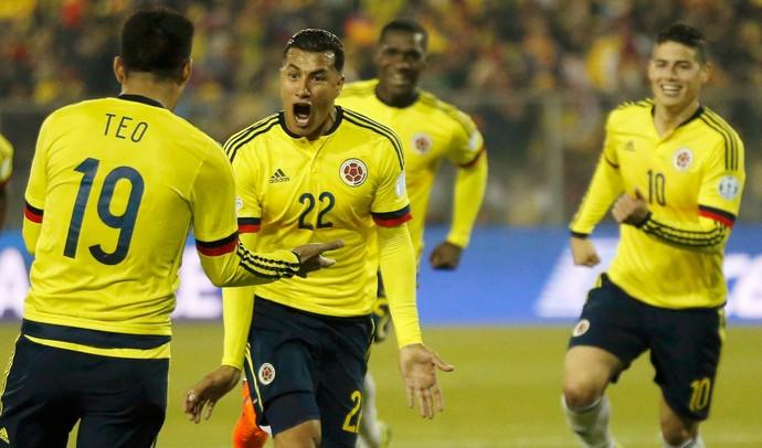 Murillo gol Colômbia Brasil (Foto: Reuters)