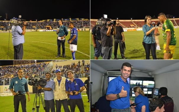 Cerca de 80 colaboradores fizeram parte da transmissão no estádio e na sede da emissora (Foto: Divulgação/TV Sergipe)