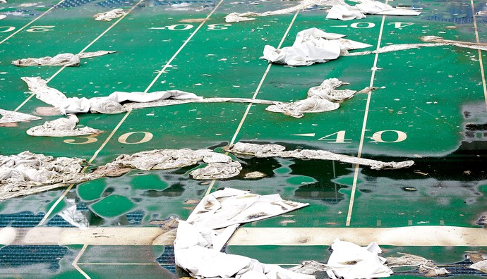 estádio Pontiac Silverdome abandonado (Foto: AP)