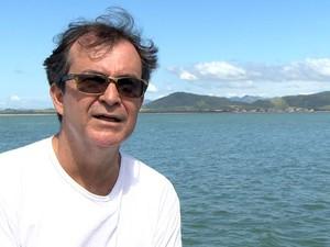 O Luiz mergulha no local há dois anos (Foto: Reprodução/TV Gazeta)