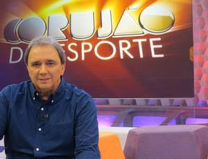 Reginaldo Leme no Corujão do Esporte (Foto: Daniel Cardoso)