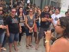 Servidores da educação de Cabo Frio protestam no Instituto de Previdência