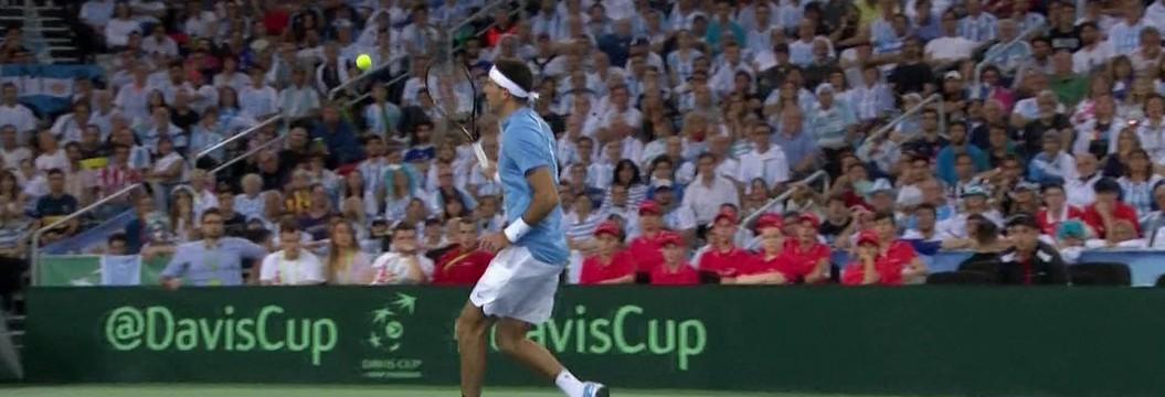 Veja incrível jogada de Del Potro contra Cilic na final da Copa Davis