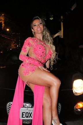 Sheyla Mell em lançamento de revista em São Paulo (Foto: Paduardo/ Ag. News)