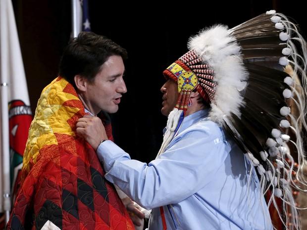 """Trudeau quer promover uma """"renovação total"""" das relações do governo com os povos indígenas  (Foto: Chris Wattie/Reuters)"""