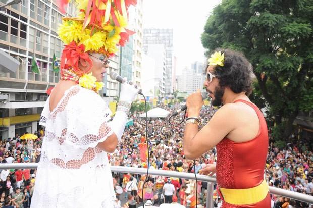 Garibaldis e Sacis encerrou o pré-carnaval com um novo desfile pela Marechal Deodoro (Foto: Roger Santmor/RPC TV)
